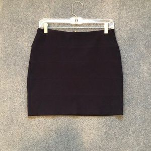 Topshop navy bodycon mini skirt